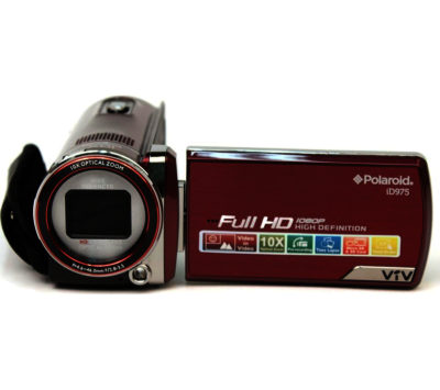 Polaroid ID975HD Traditional Camcorder - Red
