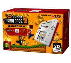 Nintendo 2DS with Super Mario Bros 2 - White & Red