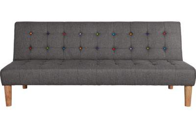 Home disco fabric clic clac sofa bed grey pricehit - Clic clac housse ...