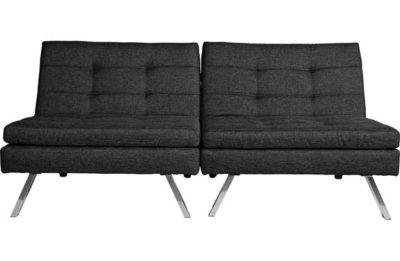 Home duo fabric clic clac sofa bed black pricehit - Clic clac housse ...