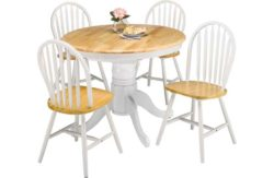 Collection Kentucky Round Dining Table - Two Tone