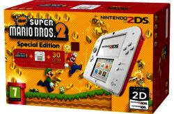 2DS White/Red Console with Super Mario Bros 2