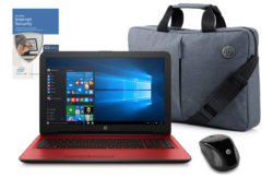 HP 15in Intel Pentium 4GB 1TB Red - Bag, Mouse & McAfee