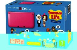 Nintendo 3DS XL Pink Console with Tomodachi Life Bundle