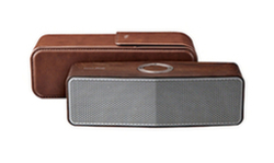 LG Music Flow P7 Portable Bluetooth Speaker With Leather Carrying Case, Oak