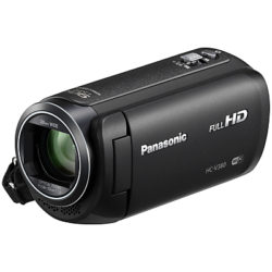 Panasonic HC-V380EB Camcorder, Wi-Fi, HD 1080p, 2.5MP Movie/10MP Still, 50x Optical Zoom, 90x Intelligent Zoom, 2.7 Wide LCD Touch Monitor