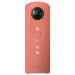 Pentax Ricoh THETA SC Action Camera, HD 1080p, 14MP, 360° Recording, Wi-Fi with Soft Case Pink