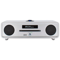 Ruark R4 MK3 DAB/DAB+/FM Radio & CD Bluetooth All-In-One Music System with OLED Display White