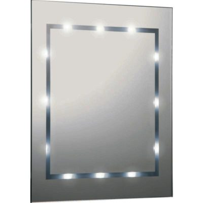 Brilliant Battery Operated Round LED Vanity Mirror  Bathroom Lights  Pinterest