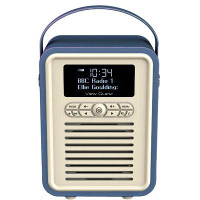 view quest retro mini blue stylish dab dab fm radio and. Black Bedroom Furniture Sets. Home Design Ideas